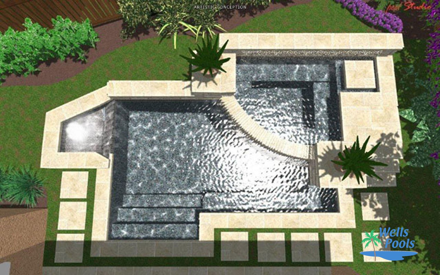 3d pool design sacramento folsom el dorado hills roseville for Pool design roseville ca