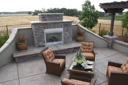 Custom Fireplace/Fire #004 by Wells Pools