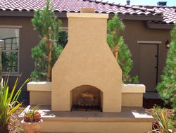 Custom Fireplace/Fire #007 by Wells Pools