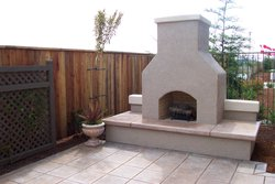Custom Fireplace/Fire #008 by Wells Pools