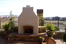 Custom Fireplace/Fire #009 by Wells Pools