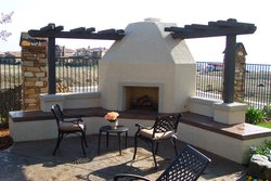 Custom Fireplace/Fire #014 by Wells Pools