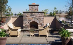 Custom Fireplace/Fire #015 by Wells Pools
