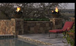 Custom Fireplace/Fire #017 by Wells Pools