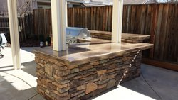 Custom Fireplace/Fire #018 by Wells Pools