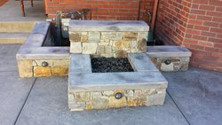 Custom Fireplace/Fire #019 by Wells Pools