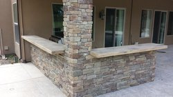 Custom Fireplace/Fire #022 by Wells Pools