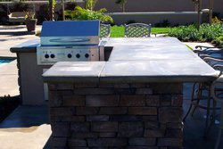Custom Outdoor Kitchen #008 by Wells Pools