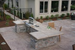 Custom Outdoor Kitchen #015 by Wells Pools