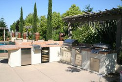 Custom Outdoor Kitchen #016 by Wells Pools