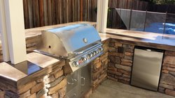 Custom Outdoor Kitchen #017 by Wells Pools