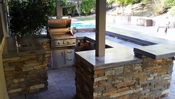 Custom Outdoor Kitchen #019 by Wells Pools