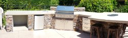 Custom Outdoor Kitchen #020 by Wells Pools