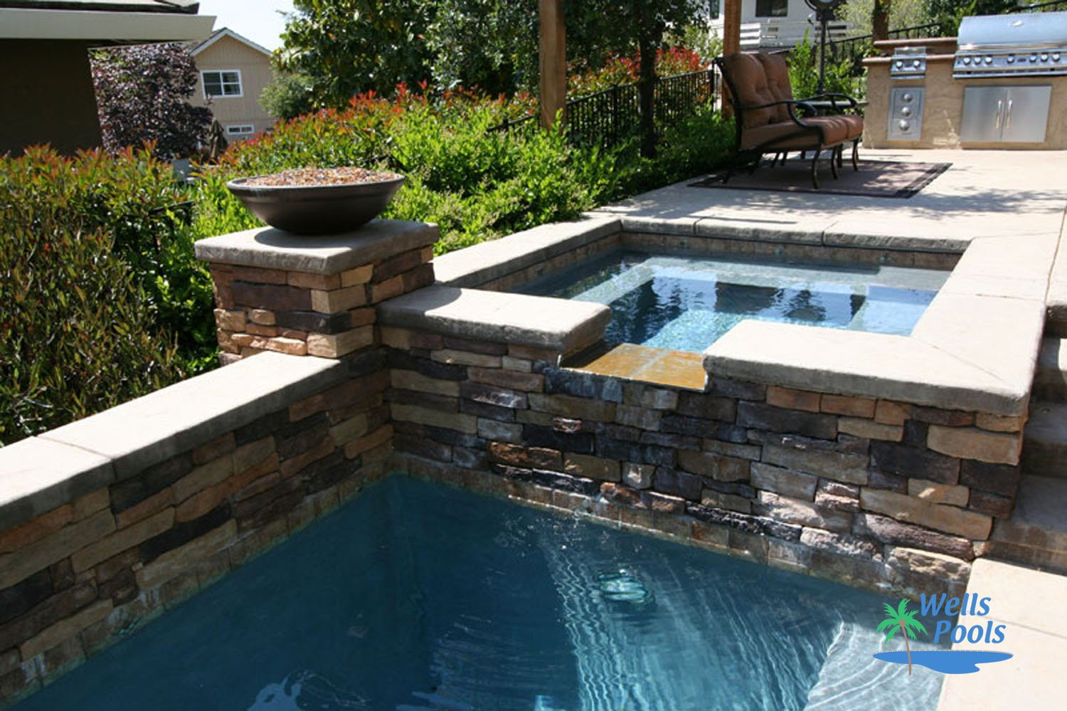 Inground spas construction sacramento folsom el dorado for Pool and spa builders