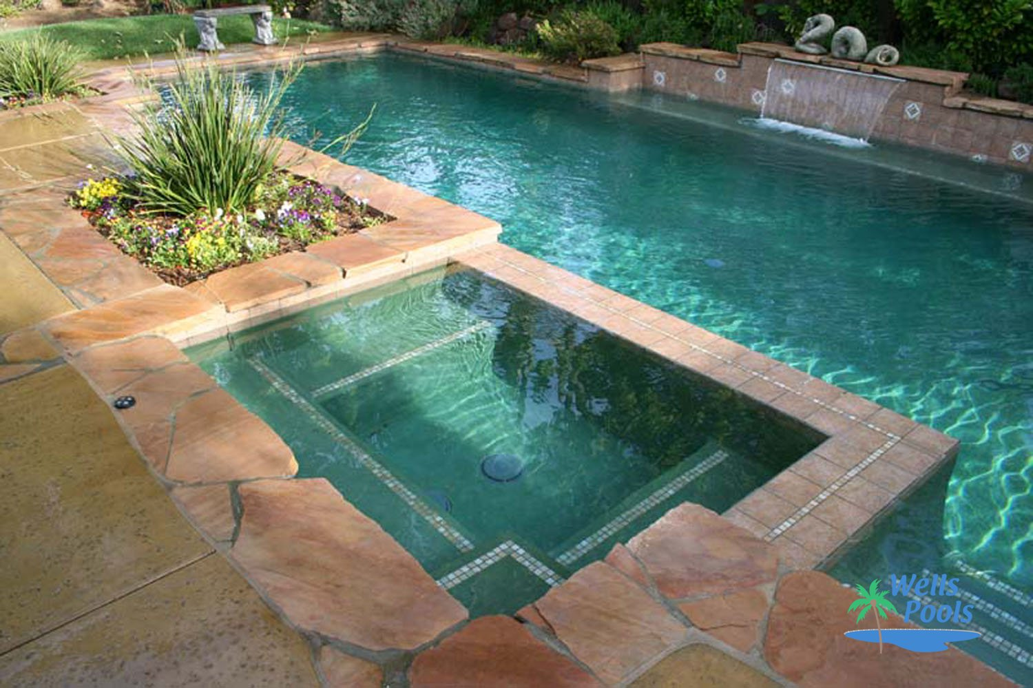 Inground spas construction sacramento folsom el dorado for Spa and pool
